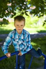 Portrait of boy of five years outdoor