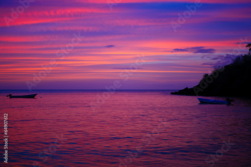 canvas print picture caribbean sunset