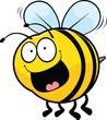 Obrazy na płótnie, fototapety, zdjęcia, fotoobrazy drukowane : Happy Cartoon Bee