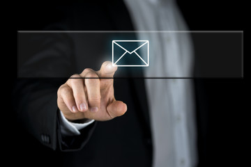 Email icon on interface