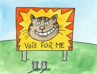 'Vote for me' political sign