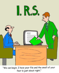 """IRS:  """"...the smell of your fear is just about right."""""""