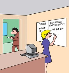 As many learning experiences as there are sales