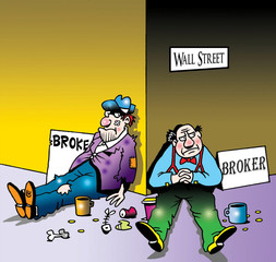 Broke and Broker on Wall Street