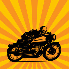 Vintage Motorcycle race background, vector