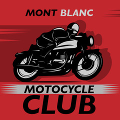 Abstract background with the words Motocycle Club inside