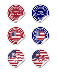 Independence day stickers