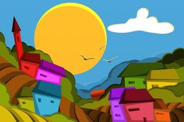 paesaggio colorato