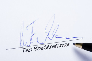Unterschrift der Kreditnehmer