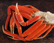 Crab legs on brown background - 64911031