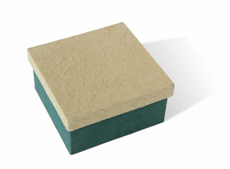 handmade paper gift box on white background