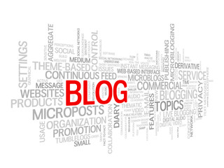"""BLOG"" Tag Cloud (social media news website web internet online)"