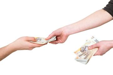 Gotówka płacenie