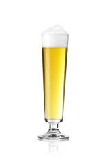 Bierglas mit schaum und tau Dortmunder Stange