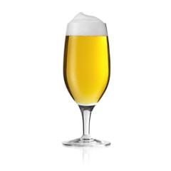 Bierglas biertulpe mit kondenstropfen