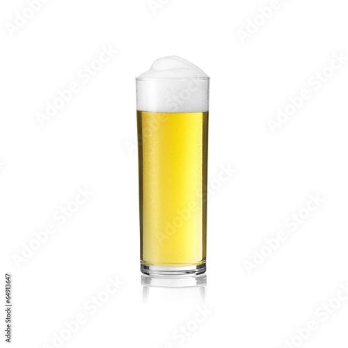 Leinwandbild Motiv kölsch glas bier Karneval mit tautropfen