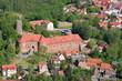 Leinwanddruck Bild - Burg Eisenhardt - Bad Belzig - Luftbild