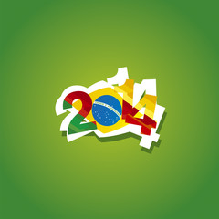Cameroon in Brazil 2014 vector