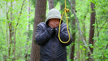 Man with noose in the  woods episode 2