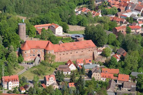 Leinwanddruck Bild Burg Eisenhardt - Bad Belzig - Luftbild