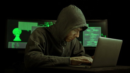 Dark Hacker cracking code (HD)