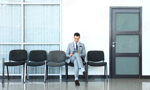Business man waiting for job interview