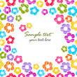 Colorful rainbow sketchy flowers seamless frame pattern