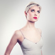 Attractive vintage blonde woman model