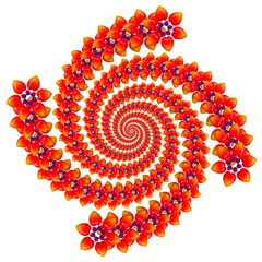 Spiral of flowers