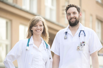 Smiling medical doctors