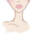 ピンクのリップの女性イラストイメージ