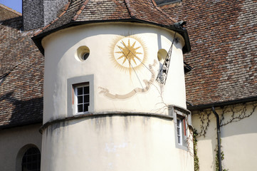 Sonnenuhr am Kloster Reichenau-Mittelzell