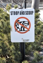 Stoop and scoop sign