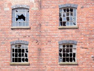 Broken Glass in an old building
