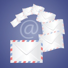 White detailed envelopes