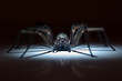 Leinwanddruck Bild - huge spider in ambush