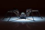 huge spider in ambush - 64918636