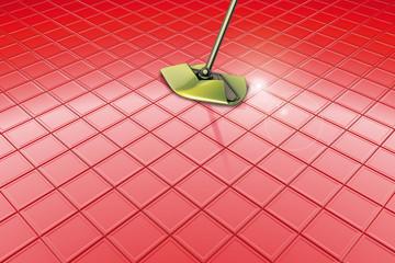 Mocio pavimento rosso