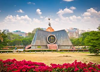 Nyayo Monument in central park, Nairobi, Kenya.