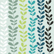 Cute spring floral seamless pattern in blue and green