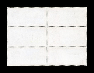 Blank Postage Stamp Sheet