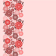 Vector floral background seamless pattern in red