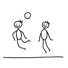Zwei Fußballer beim Kopfball