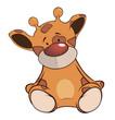 The stuffed toy giraffe cartoon