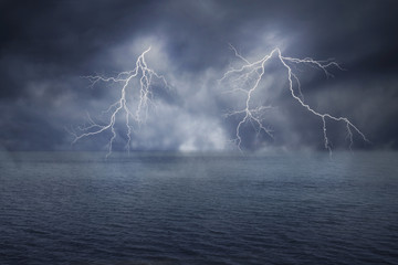 The Lightning on the Ocean