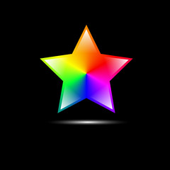 abstract colorful star shape
