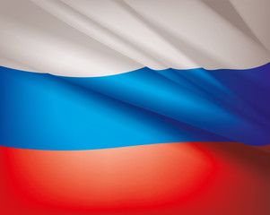 Flag of Russia, vector background