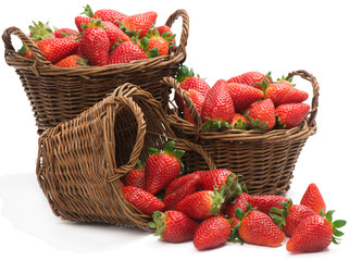 baskets with strawberries