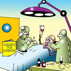 Surgeon uses Surgery for Dummies