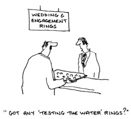 Wedding Rings:  'Got any 'testing the water' rings?'
